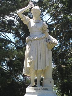 Flora Farnese by John Udny. This Italian marble statue of Flora Farnese, Roman Goddess of flowers and Spring, is located in the Ballarat Botanic Gardens. Created by the artist Giovanni Udny /John Udny  (1850-1927), Flora Farnese is one of twelve statues that make up the Stoddart Statue Collection, which was presented to the people of Ballarat by Thomas Stoddart (1828-1905) in 1884.