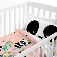 Ideas for Decorating a Bedroom in a Panda Theme Kids Bed Linen, Beige Bed Linen, Cot Duvet, Linen Bedding, Bed Linens, Bedroom Themes, Bedroom Decor, Panda Nursery, Jungle Nursery