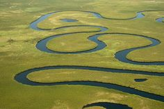 Okavango... can't you just picture God laying down His finger and tracing out the river?