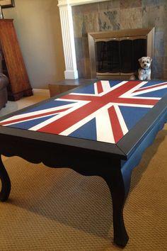 British flag coffee table