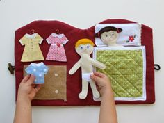Felt Quiet Book, Handmade Doll House Book, Travel and Church Quiet Book. $95.00, via Etsy.(inspiration for making my own)