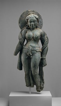 Mother Goddess (Matrika) One of a group of 7 ….. Period: Post-Gupta period Date: mid- 6th century Culture: India (Rajasthan, Tanesara) Medium: Gray schist Dimensions: H. 24 1/2 in. (62.2 cm) via metmuseum