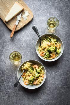 One pot pasta crevettes ail citron brocolis - Lilie Bakery