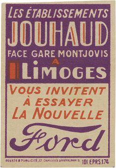 vintage French matchbox label. (50mm × 35mm)