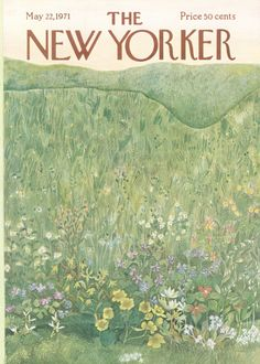 The New Yorker Cover - May 1971 Poster Print by Ilonka Karasz at the Condé Nast Collection The New Yorker, New Yorker Covers, Room Posters, Poster Wall, Poster Prints, Graphic Prints, Photo Wall Collage, Picture Wall, Images Esthétiques