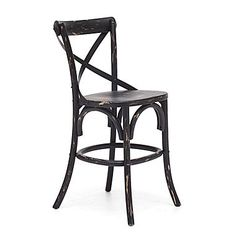 Zuo® Elm Wood Union Square Counter Chair, Black