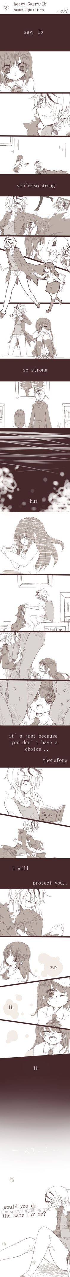 ((I know this isn't anime, its a game, but the art style is anime soo))   Garry's feelings towards Ib - comic