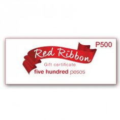 Red Ribbon Gift Certificate PHP500