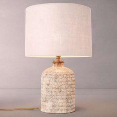 Buy John Lewis Hilbre Etched Ceramic Lamp Base with Samantha Drum Linen Lampshade, Fir Green from our Desk & Table Lamps range at John Lewis & Partners. Ceramics Pottery Mugs, Ceramic Pottery, Ceramics Ideas, Ceramic Lamps, Pottery Plates, Pottery Vase, Slab Pottery, Ceramic Art, John Lewis Lamps