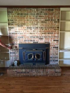 The Peacock Roost: Our Home: DIY Whitewashed Fireplace