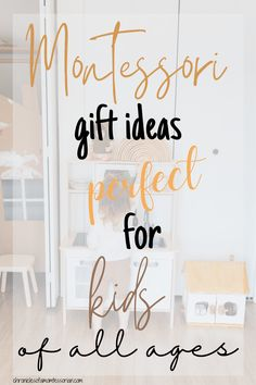 #Montessori gift ideas for #kids of all ages Unique Gifts For Kids, Gifts For Teens, Kids Gifts, Creative Gifts, Gifts For Dad, Cute Christmas Gifts, Holiday Gifts, Gift Suggestions, Gift Ideas