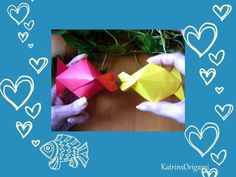 Origami kissing fish