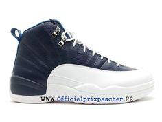 sale retailer deab5 9ab9c Air Jordan 12 Retro GS 2012 Chasusures Jordan officiel Pour Femme French  Blue Blanc 153265 410-