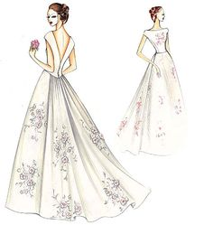 A gorgeous, simple wedding dress. Marfy Patterns