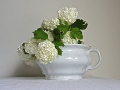 White Ironstone Pot // Johnson Brothers // by gardenofsimples