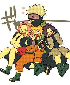 <3 Kakashi, Naruto, Sakura & Sasuke (Team Kakashi / Team 7)
