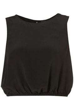 Silk Crop Vest By Boutique - New In This Week - New In - Topshop USA - StyleSays