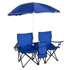 Our double folding include a removable umbrella and are perfect for use at parks, beaches, backyard patios, gardens, campsites and more. Our chair set features a removable umbrella for those extra sun