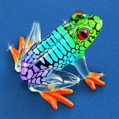 This little frog is so colorful! Another beautiful piece by Glass Baron