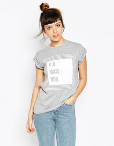 ASOS T-Shirt With Oui Mais Non Print