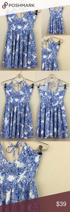 American apparel ice skater dress • American apparel  • Skater dress • White/blue • New without tags • Short • $70 American Apparel Dresses