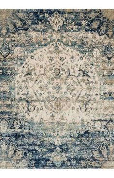 Shop our Loloi Rugs Anastasia Blue Ivory Area Rug. This beautiful Loloi Anastasia Rug Blue Ivory is a unique, new rug pattern available now on sale from the trusted experts. Decor, Traditional Rugs, Rugs On Carpet, Blue Rug, Fine Rugs, Rugs, Loloi, Bohemian Rug, Rugs In Living Room