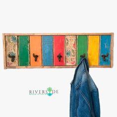Entryway Organizer Coat Rack / Modern Coat Hook / Rustic Coat | Etsy Towel Organization, Entryway Organization, Modern Coat Hooks, Rustic Coat Rack, Reclaimed Wood Shelves, Boutique Interior Design, Wall Mounted Coat Rack, Bold Colors, Color Splash