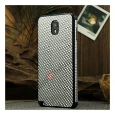 Aluminium Metal Bumper and Carbon fiber Protective back Case For Samsung Galaxy Note 3 N9000 - Black/Silver US$25.99