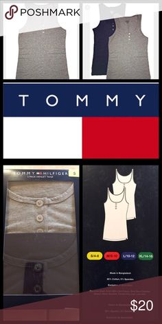 🌼✨LAST ONE✨Tommy Hilfiger Henley Tank Tommy Hilfiger Henley Tank ✨ 2- Pack ✨.                       Features: 3 front buttons.                                                       Size: Small ( 4/6).                                                                     Material: 95% cotton 5% spandex.                                        Care: Machine washable. Tommy Hilfiger Tops Tank Tops