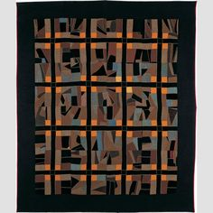 """CRAZY PATCH QUILT/ Leah Zook Hartzler (dates unknown), Pennsylvania, United States,1903, wool and cotton with cotton embroidery, 88 × 75"""", collection American Folk Art Museum, gift of Mr. and Mrs. William B. Wigton: 1984.25.15. Photo credit: Schecter Lee."""