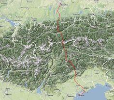München-Venedig 28 Etappen 3 Länder 1 Weg !!! 560 Kilometer 20.000 Höhenmeter unendlich viele Eindrücke