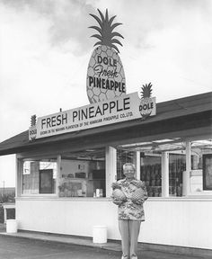 Fresh pineapple at the Dole pineapple stand.Mahalo nui to Dole Plantation for supporting the exhibit - Change: 125 Years Through the Eyes of Bishop Museum, open in the J. M. Long Gallery. More info on the at www.dole-plantation.com Image from Dole Plantation.