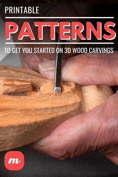 Finding good 3d Wood Carving Patterns can be tough, especially if you are a beginner to the art. That is why we have rounded up this awesome list of 13 templates you can try out! From birds to bears and even floral patterns, this list has something for everyone. Free printable patterns and more. Check it out and get started! #woodcarving #3Dwoodcarvingtemplates Dremel Wood Carving, Wood Carving Art, Carving Tools, Wood Carvings, Carving Board, Wood Carving Designs, Wood Carving Patterns, Learn Woodworking, Woodworking Crafts