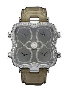 Montre Montega - Elie Chatila, or blanc, diamants, EC 70.045