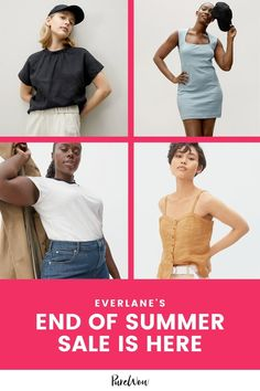 Everlane rarely offers sales, so when we heard that the minimalist, sustainable, ethically-minded clothing company was planning a summer sale with up to 50 percent, we barely knew where to begin. End Of Summer, Summer Sale, Summer Dresses With Sleeves, Cashmere Wrap, Professional Look, Wrap Sweater, City Chic, Clothing Company, Winter Wardrobe