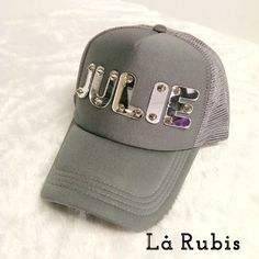 Acrylic name on the chicky cap