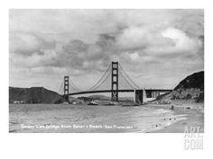 San Francisco, California - Golden Gate Bridge from Baker's Beach Print at Art.com