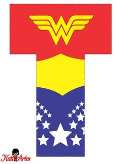 EUGENIA - KATIA ARTES - BLOG DE LETRAS PERSONALIZADAS E ALGUMAS COISINHAS: Alfabeto e Números MULHER MARAVILHA Wonder Woman Birthday, Wonder Woman Party, Birthday Woman, 1st Birthday Girls, 1st Birthday Parties, Birthday Ideas, Superman Birthday Party, Superhero Party, Alphabet