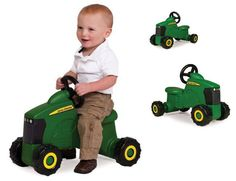 John Deere Toddler Kids Tractor Outdoor Toy Ride Tricycle Riding Play Bike Car
