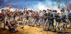 """""""The Old Line at Guilford Courthouse"""" by Bryant White (whitehistoricart.com)."""