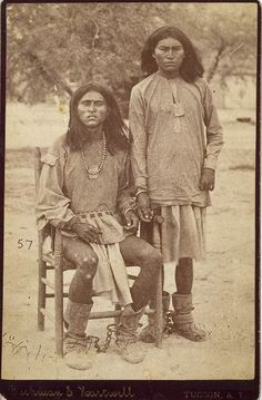 Shackled and hand-cuffed Apache Prisoners.