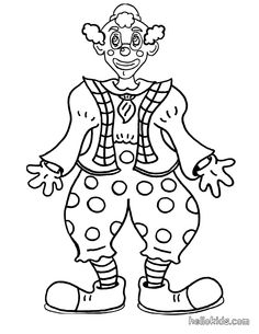 Smiling Clown Coloring Page There Are Many Free In CIRCUS Pages Let Your Imagination Soar And Color This