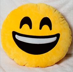 Smiley Face Emoji Pillow