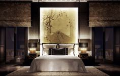 Create an extoic #wallpanel for a full intense feeling in the #bedroom