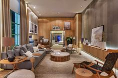 Casa Cor Sao Paulo 2014 Home Office, Living Room Designs, Living Room Decor, Wall Design, House Design, Interior Desing, Dream Rooms, Outdoor Furniture Sets, Sweet Home