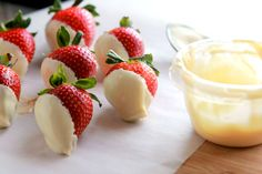 Healthy Valentine's Day Inspiration - An Apple A Day Chocolate Dipped Strawberries, Dried Strawberries, Raspberries, Blueberries, Valentines Day Cookies, Valentines Food, Valentines Recipes, Fruit Sorbet, White Strawberry
