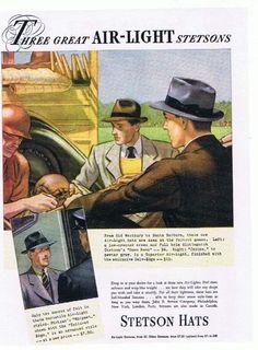 Anuncio publicitario de los sombreros marca Stetson. 1937.
