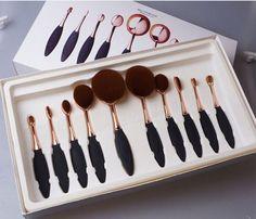 My makeup brush set.