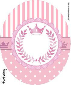 Rótulo Tubete Oval Kit Realeza Rosa