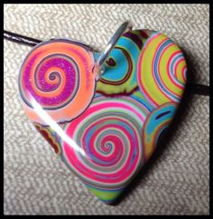 Healing Heart on Leather Necklace  by purplecactusstudios on Etsy,